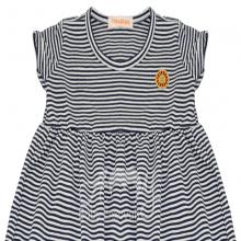 Vestido em malha listra marinho - 3 anos