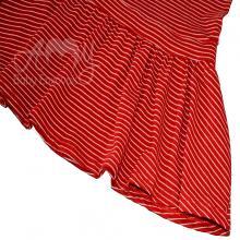 Vestido em malha listra vermelha - 3 anos