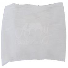 Faixa meia de seda flor de renascença branca