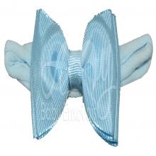 Faixa meia de seda laço chanel azul - RN