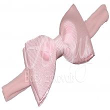 Faixa meia de seda laço chanel rosa - RN