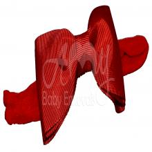Faixa meia de seda laço chanel vermelho - RN