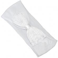 Faixa meia de seda renda renascença laço branco