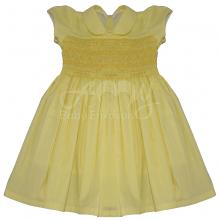Vestido casinha de abelha ponto smock amarelo manu - 2 anos