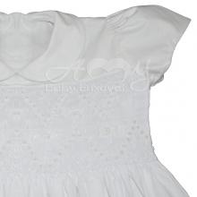 Vestido casinha de abelha ponto smock branco maria - 2 anos