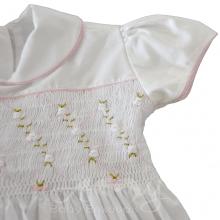 Vestido casinha de abelha ponto smock rococo - 1 ano