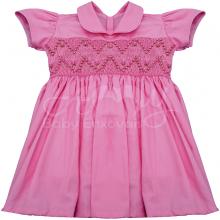 Vestido casinha de abelha ponto smock rosa rosinha - 1 ano