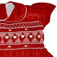 Vestido casinha de abelha smock rococo - 2 anos