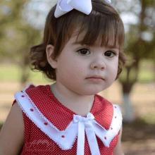 Vestido infantil renda renascença poá vermelho  - 9 meses