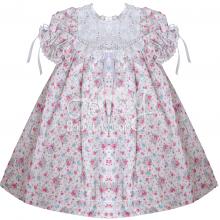 Vestido renda renascença infantil duo floral - 1 ano