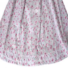 Vestido renda renascença infantil flora rosa - 1 ano