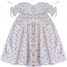 Vestido renda renascença infantil moranguinho - 2 anos
