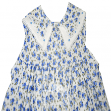 Vestido renda renascença mini floral azul - 1 ano