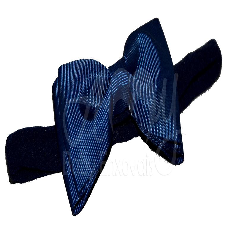 Faixa meia de seda laço chanel azul marinho - RN