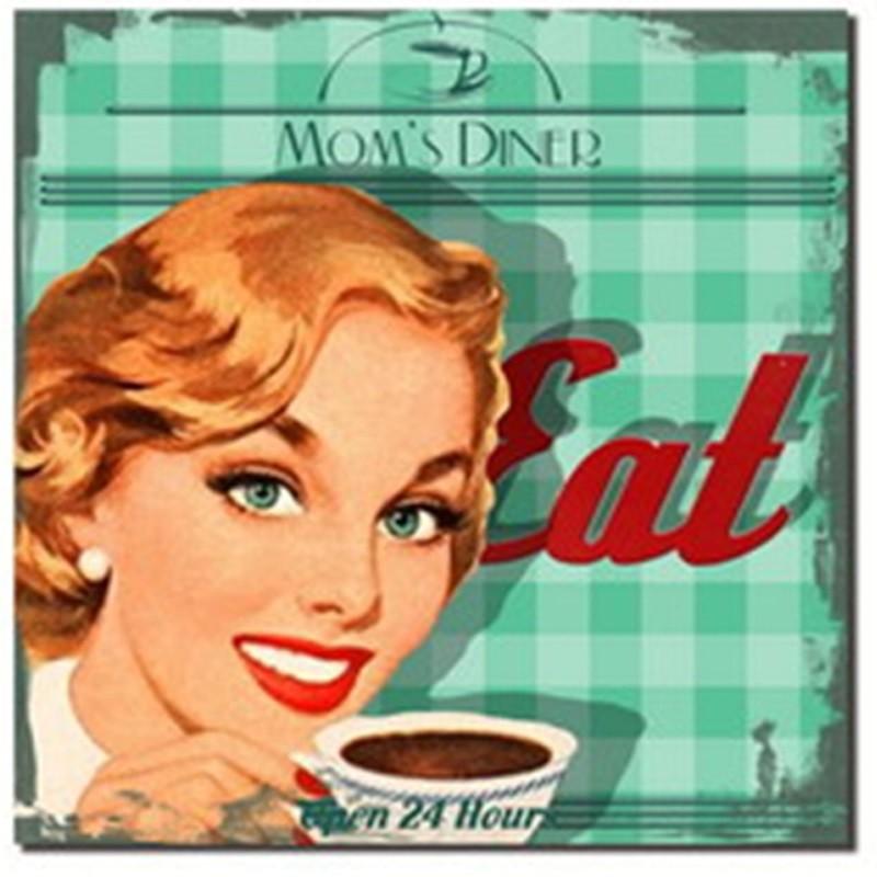 Eat Mom's Dinner - Verde- Quadros