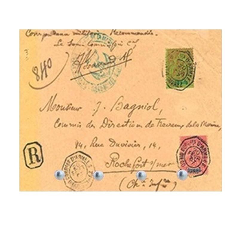 Carta Retrô -  Porta Chaves