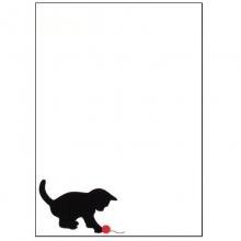 Porta Recados de Geladeira - Gato Preto