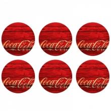 Porta Copos Coca-Cola - Madeira