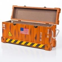 Caixa Container Laranja- Organizadores