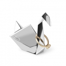 Cisne Origami - Porta Anel Cromado