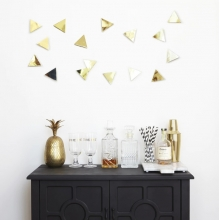Confetti Triângulo Dourado- Conjunto Decorativo (16 peças)