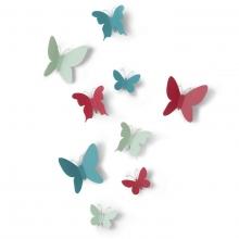 Mariposa - Borboletas - Conjunto Decorativo com 9 Peças