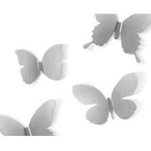 Mariposa Metal - Borboletas - Conjunto Decorativo com 9 Peças