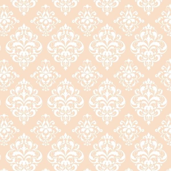 Tricoline Estampado Arabesco Salmão S1514-1 • Tecido Tricoline Estampado