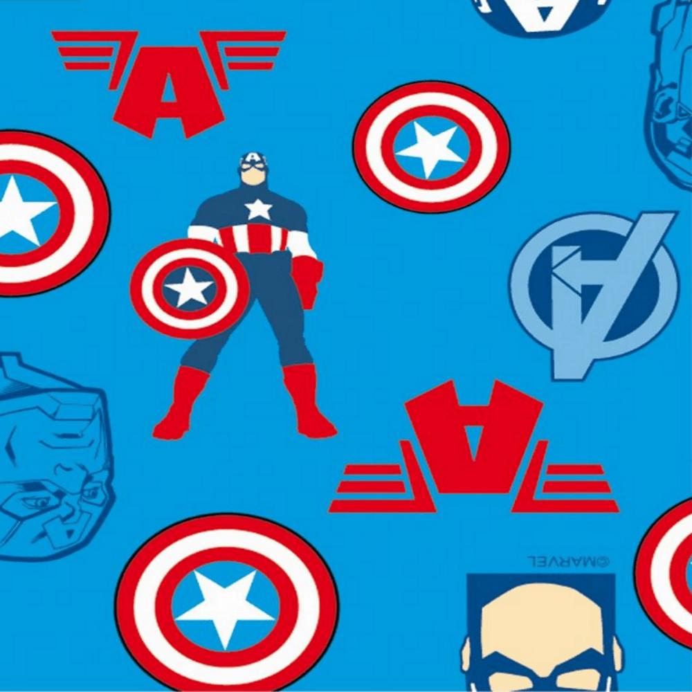Tricoline Personagens Marvel Vingadores AV001C01 Capitão América TECIDO TRICOLINE ESTAMPADO