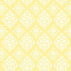 Tricoline Estampado Arabesco Amarelo S1514-4