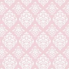 Tricoline Estampado Arabesco Rosa S1514-3