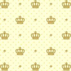 Tricoline Estampado Coroas Dourada S1123-3