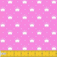 Tricoline Mini Coroas Pink P1143-108