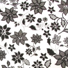 Tricoline Estampado Flores PB S12850-1