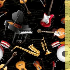Tricoline Digital Musical P9020-22 TECIDO TRICOLINE ESTAMPADO
