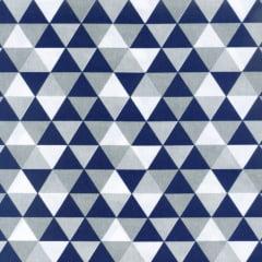 Tricoline Losangos Azul e Cinza S166-1
