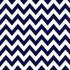 Tricoline 100% algodão Zig Zag Chevron Azul Marinho DX1676-12 - Chevron