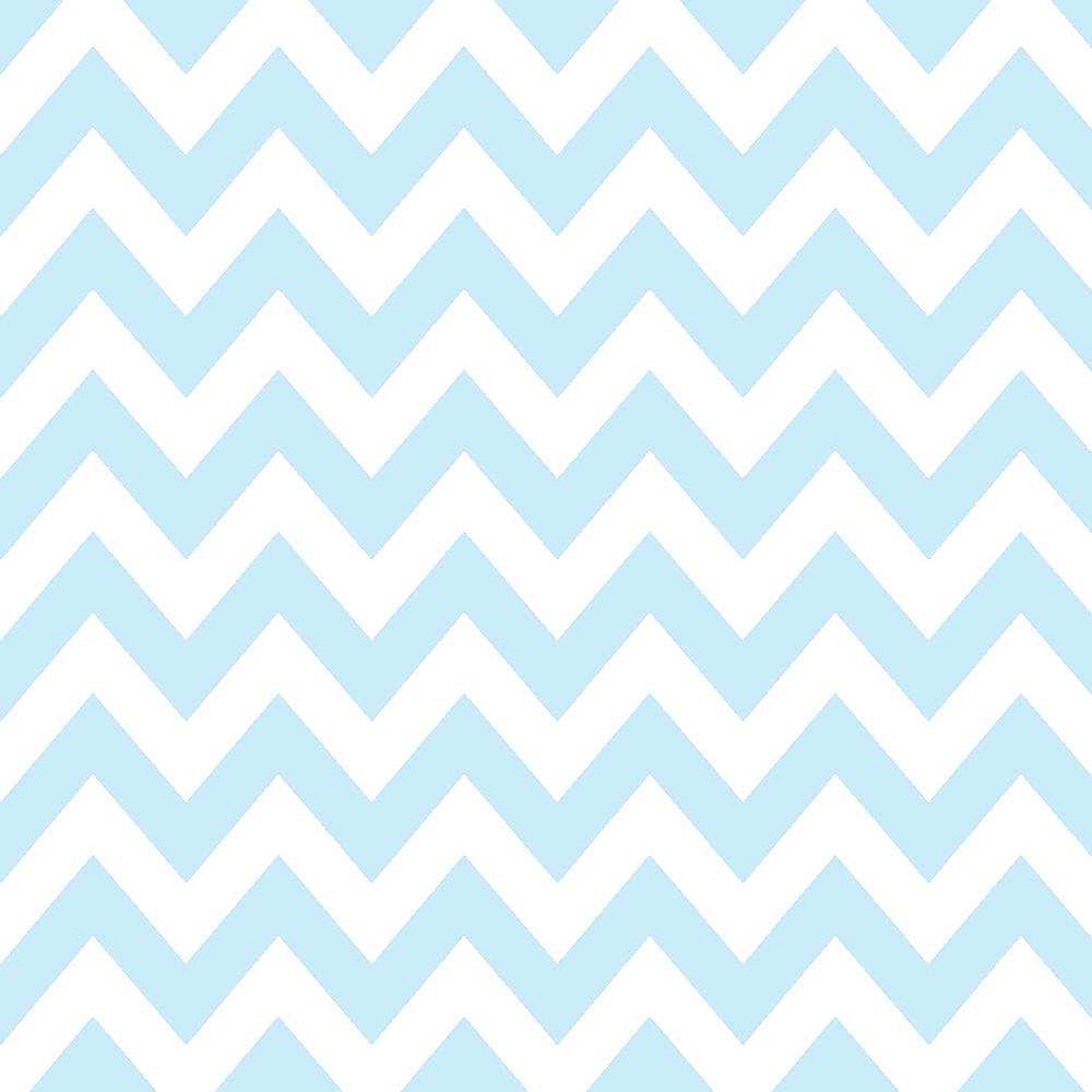 Tricoline 100% algodão Zig Zag Chevron Azul DX1676-16 - Chevron