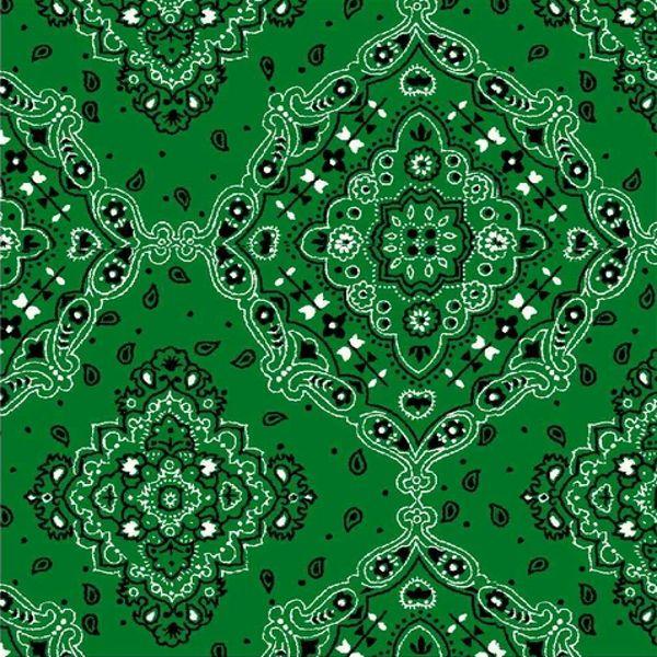 Tricoline Bandana Verde DX2272-05  - Bandanas
