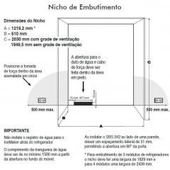REFRIGERADOR DE EMBUTIR 155L AÇO INOX LIEBHERR 127V