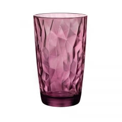 Copo Long Drink Diamond Bormioli Vidro Roxo 470ml