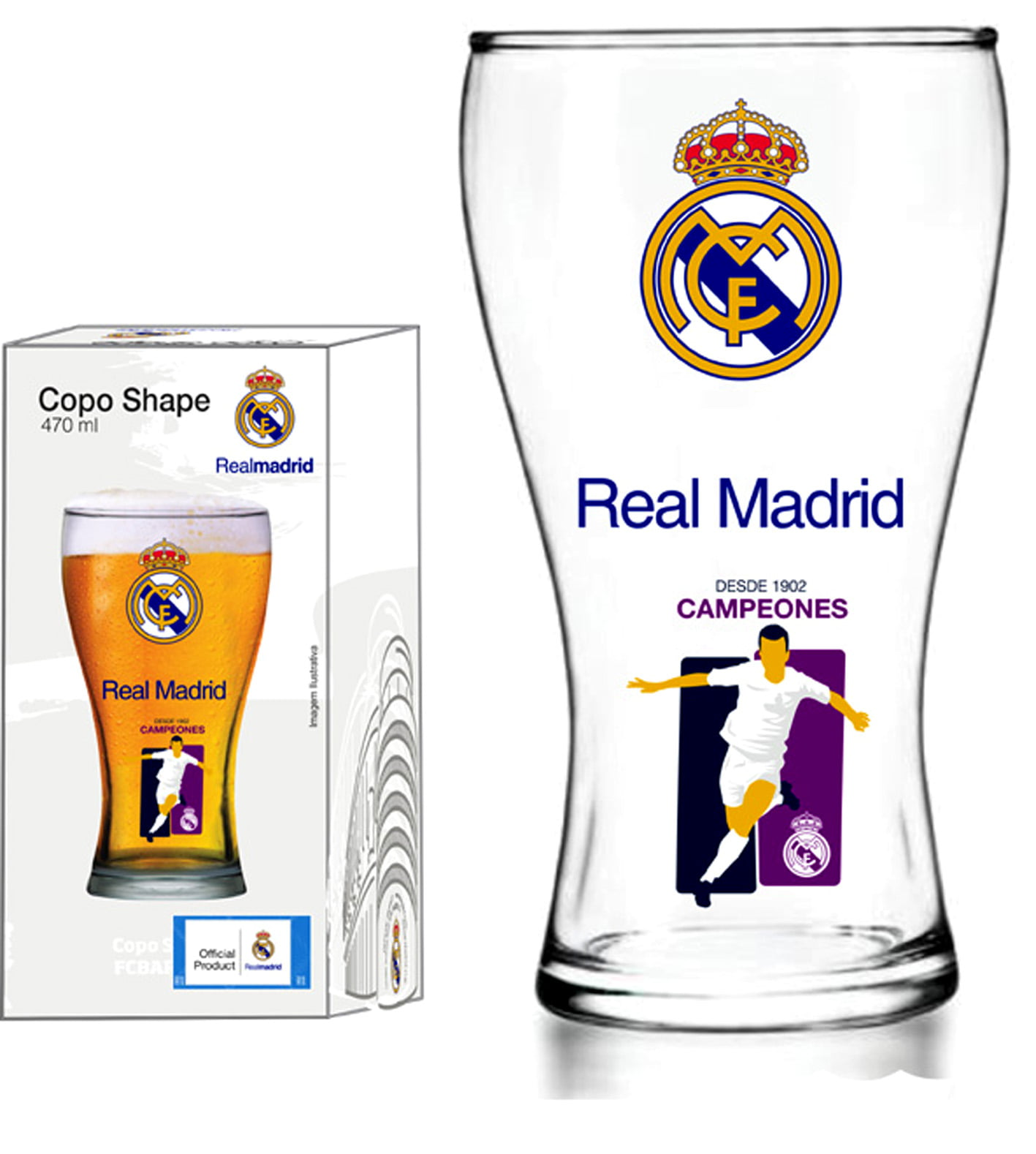 Copo Shape 470ml Real Madrid Jogador