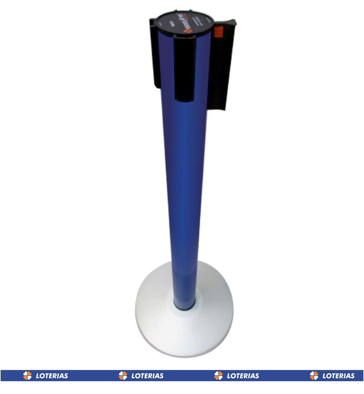 * Pedestal Organizador, Demarcador, Divisor Modelo Neon Alumínio Padrão Lotérica (cx. 3 unid.)