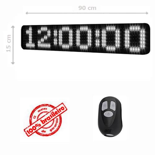 PAINEL LEDTIME XL  764 - CRONÔMETRO HORA / MINUTO / SEGUNDO - 90X15 CM COM CONTROLE