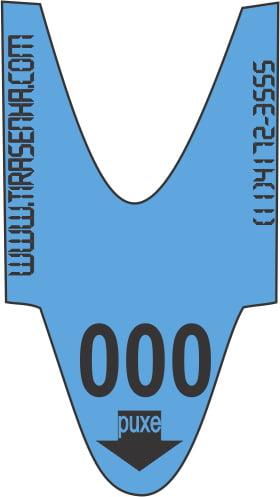 Rolo / Bobina de Senha Numerada Color 3 Dígitos de 000 a 999 com 2000 Senhas: Azul