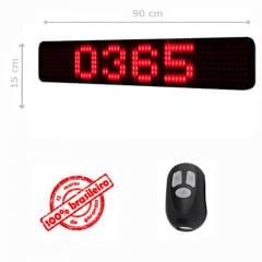 PAINEL LEDTIME XL   764 - CONTADOR DE DIAS - 90X15 CM COM CONTROLE
