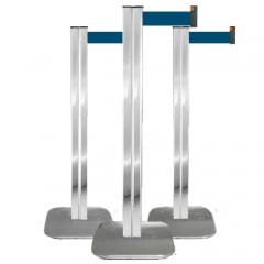 Pedestal Organizador, Demarcador, Divisor Modelo Century Alumínio Cromado (cx. 3 unid.)
