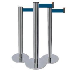 Pedestal Organizador, Demarcador, Divisor Modelo Elegance Cromado (cx. 3 unid.)
