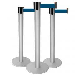 * Pedestal Organizador, Demarcador, Divisor Modelo Neon Alumínio fosco (cx. 3 unid.)