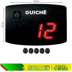 PAINEL ORIENTADOR DE FILAS S-25-G GUICHÊ 24X18 CM COM CONTROLE SEM FIO